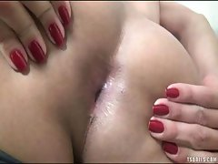 Gorgeous Shemale Strokes Her Meat