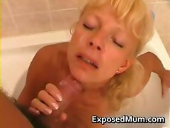 Mom sucking her neighbors cock part1