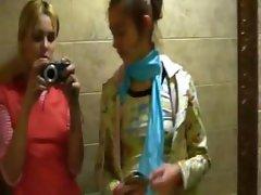 naked german girl on disco toilet