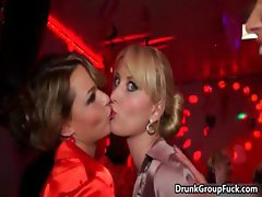 Horny drunk women enjoy naked big cock part1
