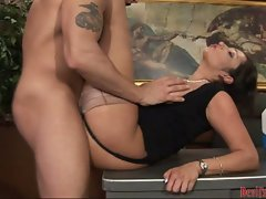 Vannah Sterling gets her pussy thumped by a rock hard cock she cannot resist
