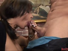 Whore Vannah Sterling glides a stiff beef pole in her voracious  mouth