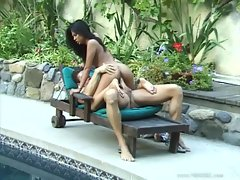 Filthy asian Jade Marcela bounces her moist snatch on a huge throbbing meat pole