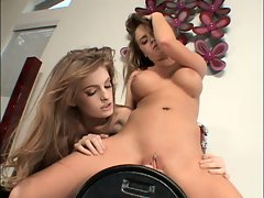 Lovely whore Nichole Heiress is riding her favorite toy like a cowgirl