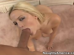 Alexis Texas pov as she stuffs her mouth full of cock