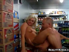 Young and frisky Chase Taylor gets a hard fucking in a beer cooler.