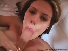 Crissy Moran loves tongueing a cock nice and slow in her mouth