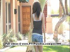 Ingenious Veronica petite babe naked outdoor