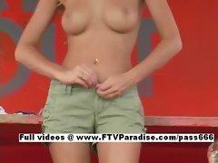 Carli funny lovely teenage undressing