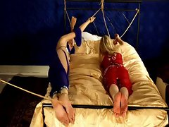Blondes get their feet caned