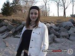 Kirsten teen outdoors beach teasing softcore then flashing