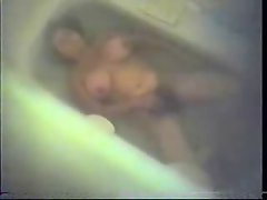 My hairy mum caught masturbating in bath tube. Hidden cam