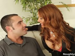 Gorgeous redhead loves to fuck her students