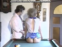 Billiard fuck for the hairy female