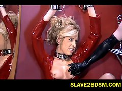 Hot vixen in latex punished