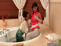 Two wet and dirty wam babes having part2