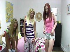 Naughty college teen turn lesbo