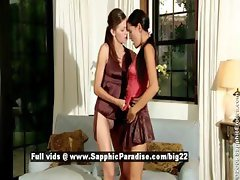 Deny and Juliette from sapphic erotica lesbian girls undressing