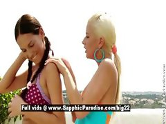 Deny and Iris from sapphic erotica lesbian girls anal licking