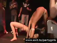 Disco Party with drunk Pussy Flashing teens