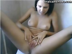 Russian hottie stipping and masturbating