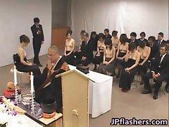 Asian girls go to church half nude part2