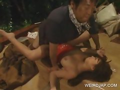 Asian doll cunt fucked by homless
