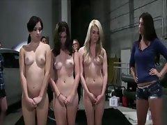 Naked college girls wrestling in oil