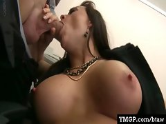 Horny Big Tit Babes Banged By Their Bosses At Work 09