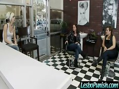 Sexy Busty Lesbo Girl Get Punish With Dildos clip-15