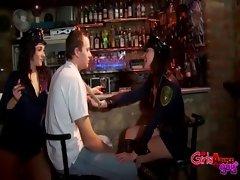 Police officer fetish babes