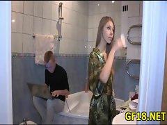 Stranger fucks luxurious teen beauty before her boyfriend