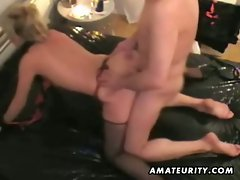 Mature blonde amateur housewife gets fucked and toys