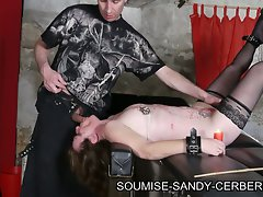 Bdsm session in the dungeon with submissive sandy in hd