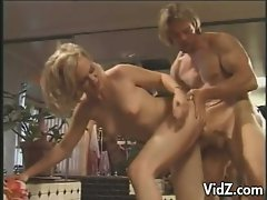 Hot blonde milf loves asshole pumping