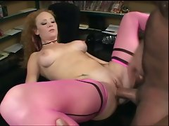 Big breasted redhead steamy fuck