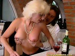 Crazy old milf fucks her friend