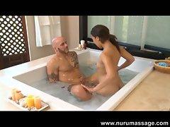 Mandi miami gives a hot nuru massages