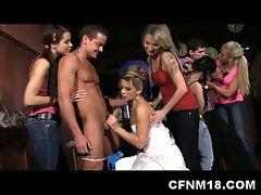 Hot teen sluts cfnm sucking and fucking orgy at wedding