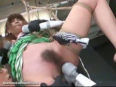 Japanese bondage sex with extreme bdsm punishment