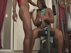Big tits and curvy massive ass skyy black riding monster cock