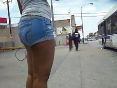Big Booty Candid Ass Azz Jeans Shorts #3
