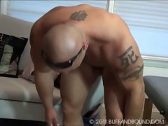Muscle Tattoo Naked Bound and Tickled