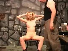 Slave girl punished by master (Sado Slaves)