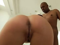 Devon Michaels rides Black cock