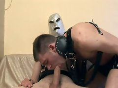Rough gay twinks master and slave style anal pounding fun