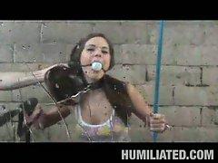 Brunette elizabeth ann humiliated at the car wash