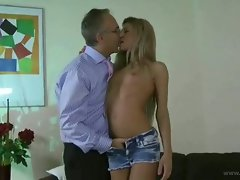 Sweet european babe tiffani pumping hard with horny daddy