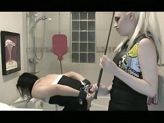 Blonde mistress wants to punish this sissy babe