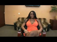 Curvy ebony girl pleases her man